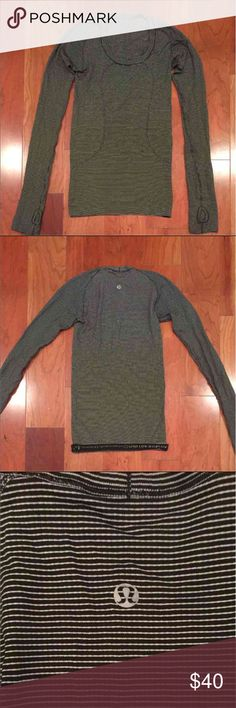 GUC Lululemon Swiftly Scoop Neck LS Top 2 Please see last pic of pulls that the top has, otherwise great condition   PRICE FIRM. If I don't sell, I'll keep it!  There is no tag, I believe it's a 2 lululemon athletica Tops Tees - Long Sleeve