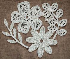Outstanding Crochet: Irish Crochet Motifs. Pattern at Irish crochet Lab... not free pattern