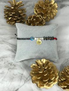 2020 New Year Bracelet 2020 Bracelet Christmas Bracelet Good Luck Bracelet, Handmade Bracelets, Handmade Gifts, Adjustable Bracelet, Gold Hoops, Gifts For Her, Christmas Gifts, Charmed, Jewels
