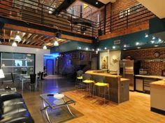 Amazing two-story loft in Atlanta - I should visit sometime.