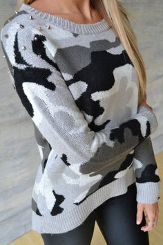 Piace Boutique - Heavy Metal Camo Sweater, $58.99 (http://www.piaceboutique.com/heavy-metal-camo-sweater/)