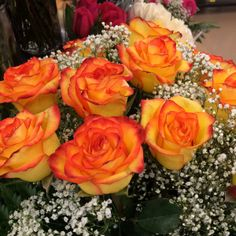 Very vibrant orange and yellow roses at our Pennsville store. #ACMEMarkets