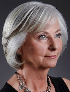 short hairstyles for women over 50 - bob hairstyle for grey hair