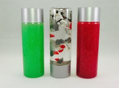 "May the ""force be with you"" when you check out the Star Wars Lego Sensory & Glitter Calming bottles by HuddleKidsActivities"