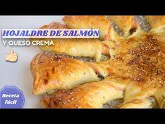 Hojaldre relleno de salmón ahumado y queso crema 😋 APERITIVO MUY FÁCIL - YouTube 3, Salmon, Brunch, Meat, Chicken, Youtube, Food, Smoked Salmon, Few Ingredients
