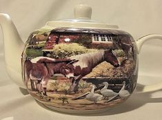 COUNTRY LIFE TEAPOT~ LEONARDO COLLECTION~ GIFT BOXED ~ NEW