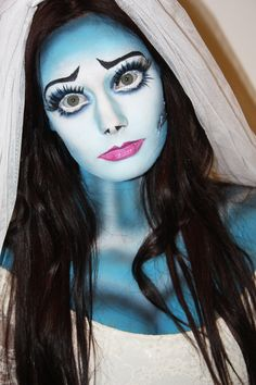 """Corpse Bride"" costume - If we end up going to a party, I may have to consider this! I hadn't really intended to trash my wedding gown and veil, but what else am I going to do with it?!"