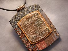 Collage pendant with John 316 by kimledesigns on Etsy, $95.00
