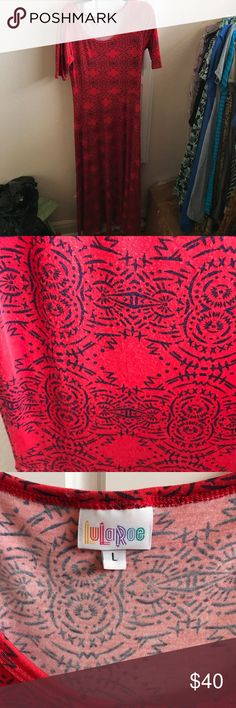 LuLaRoe EUC Ana Lg Large EUC Red and Navy Ana. Pair with a white Joy or cardigan and you're all set for 4th of July. Smoke Free and Pet Free Home LuLaRoe Dresses Maxi