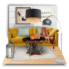 """GOLD"" by sweetfashiondreams ❤ liked on Polyvore featuring interior, interiors, interior design, Casa, home decor, interior decorating, Suki Cheema, CB2, nuLOOM e Content by Conran"