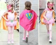 """The sweet birthday girl, photographed by her mom, Molly B."""" Molly says. """"I try to never limit my daughter, and Vita definitely has many sides to her, from her froufrou girlie-girl side that Girl Superhero Costumes, Girl Superhero Party, Toddler Costumes, Cute Costumes, Super Hero Costumes, Girl Costumes, Costume Ideas, Bday Girl, Diy For Girls"""