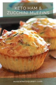 Keto ham & zucchini muffins must make! Keto Foods, Keto Snacks, Healthy Snacks, Simple Snacks, Keto Friendly Desserts, Low Carb Desserts, Low Carb Recipes, Cooking Recipes, Banting Desserts