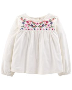 8eaea8de9a Baby Girl Floral Embroidered Top