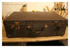 MI RINCÓN DE SUEÑOS: Restaurar maleta vintage con toque étnico