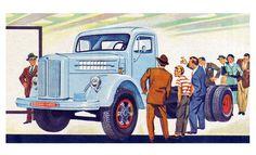 L 71 - primeiro Scania-Vabis nacional, ainda fabricado pela Vemag, lançado em 1958 com 65% de componentes produzidos no país.