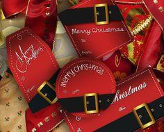 Christmas Gift Tags Printables  Santa's Buckle by MadMadGraphics, $4.00