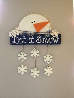 snowman wood craft Go Ahead & Craft
