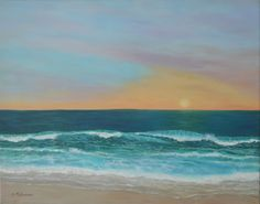 Painting of a sunset seascape