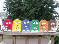 M & M painted brick garden edging!