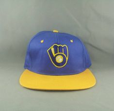 aa72fc19c7ab7 Milwaukee Brewers Hat (VTG) -By Drew Perason - Adult Snapback - New Without  Tags