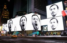 sebastian errazuriz triggers contagious yawning in times square
