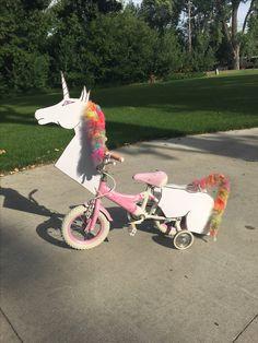 Unicorn Bike, Bike Decorations, Bike Parade, Tricycle Bike, Unicorn Costume, Kids Bike, Princess Party, Diy Costumes, Fourth Of July