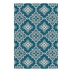 allen   roth Gaines Dark Turquoise Rectangular Indoor Woven Area Rug (Common: 9 x 12; Actual: 9-ft W x 12-ft L)