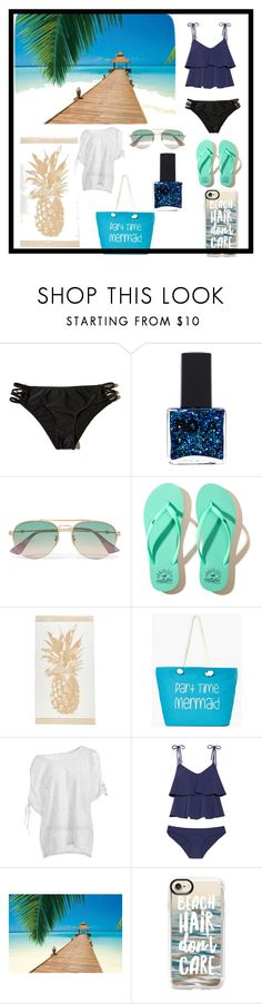 """""""Be Beachy Beautiful"""" by fashionista-lucky ❤ liked on Polyvore featuring Hollister Co., ncLA, Gucci, Boohoo, Lisa Marie Fernandez, Brewster Home Fashions and Casetify"""