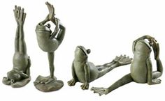 Yoga Frogs for Sierra's Memorial Garden