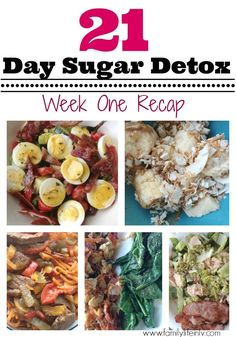 21 Day Sugar Detox Week 1 Recap - Our Knight Life 21 Day Detox, 21 Day Sugar Detox, Detox Week, Sugar Detox Diet, Week Diet, Sugar Detox Recipes, Sugar Free Recipes, Paleo Recipes, Detox Meal Plan