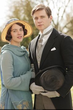 Sybil and Tom from Downton Abby. Inspiration for Mimi's outfit for Catharine's wedding.