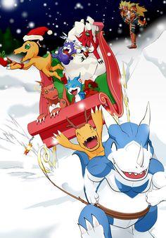 Digimon's Christmas by SkarlTano.deviantart.com on @DeviantArt
