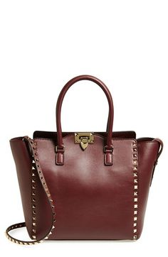 923cde5ea0ca Free shipping and returns on Valentino  Rockstud  Double Handle Leather  Shopper at Nordstrom.