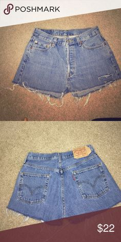 Levi's high waisted shorts Brand new, never worn label is size 29, fits like 26/27 Levi's Jeans