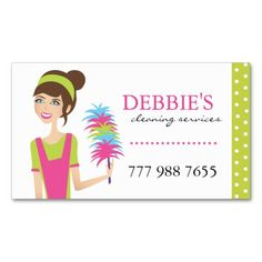 Janitorial Service Business Card Maid Services Business Cards