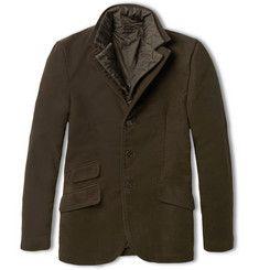 Aspesi Moleskin Jacket with Detachable Quilted Lining Cappotti E Giacche Da  Uomo 366f0870fe1