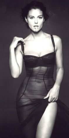 Monica Bellucci --stunning!!!  Ditch that cigarette!!!