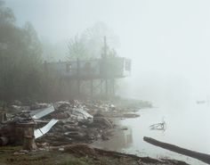 Richard Misrach - Abandoned Trailer, Mississippi River, Near Dow Chemical Plant, Plaquemine, Louisiana, 1998