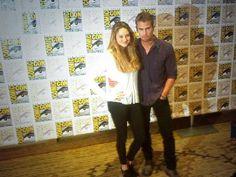 Photo time! Shailene Woodley and Theo James :) #SDCC