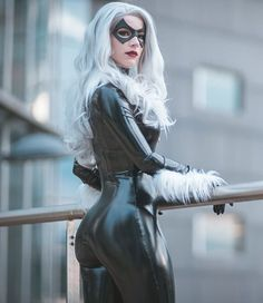 Marvel Drawing Enji Night as Black Cat (Spider-Man) Marvel Girls, Comics Girls, Marvel Marvel, Marvel Women, Captain Marvel, Cosplay Outfits, Cosplay Girls, Cosplay Marvel, Batgirl Cosplay