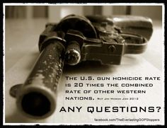 60 gun deaths a YEAR in the UK, 30 a DAY in the US. Enough is enough. Its time for sensible gun laws in the US.