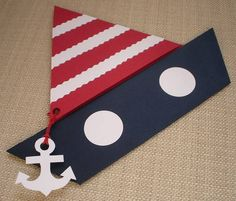 pinned by Liberhada ♥ Nautical Cards, Nautical Baby, Nautical Theme, Happy Birthday Jesus, Boy Birthday, Pirate Invitations, Sailor Theme, Apple Decorations, Party Decoration