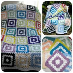 Stashbuster Granny Square Afghan With add. links to two methodes for joining the squares.