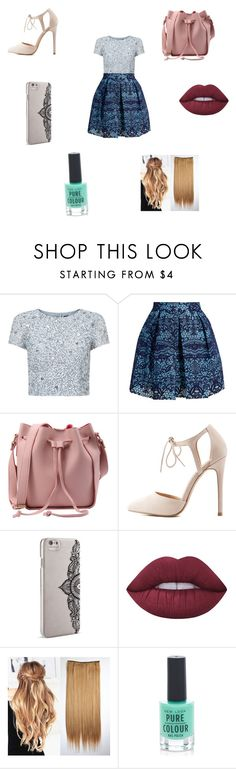 """Pretty 💝"" by aeisha-1 ❤ liked on Polyvore featuring Adrianna Papell, Maje, Charlotte Russe, Nanette Lepore, Lime Crime and New Look"