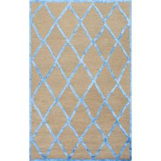 Lend a touch of texture to your living room or den with this hand-tufted wool and art silk rug, showcasing a classic trellis design.