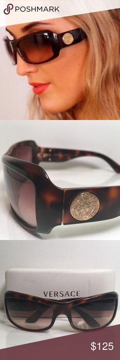 2f7614b6f99d AUTHENTIC VERSACE SUNGLASSES BROWN GRADIENT 4093 AUTHENTIC 🇮🇹 VERSACE  SUNGLASS BROWN W GRADIENT 4093 461