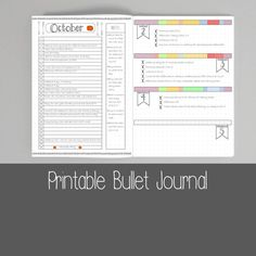 Bullet Journal - Health and Fitness - Planner - Dotted Grid - BUJO - Bullet Journal Pages - Printable Bullet Journal Health, 2017 Bullet Journal, Bullet Journal Printables, Bullet Journals, Art Journal Pages, Journal Layout, Planner Journal, Life Planner, Art Journaling