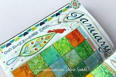 Detail of my calendar, bullet journal. So fun! www.valeriesjodin.com blog