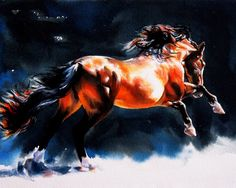 Horse Art Print from my watercolor painting by CrystalCookArt, $25.00