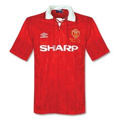 0c08f2b67 92-94 Manchester United Home Soccer Jersey Shirt Jersey Outfit